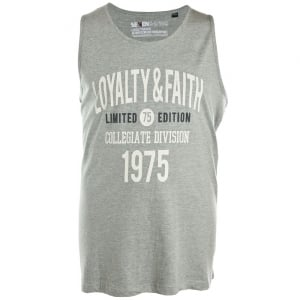 Loyalty & Faith Big Mens Balearic Vest Grey