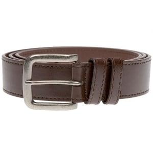 Duke London Big Mens Antique Buckle Belt Brown