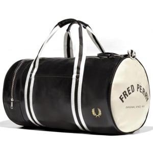 Fred Perry Classic Barrel Bag Black/Ecru