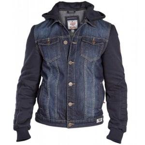 D555 by Duke Kingsize Big Mens Large Curtis Hooded Denim Jacket Vintage (2XL-6XL)