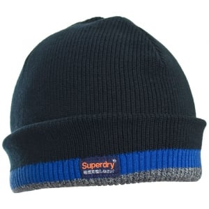 Superdry Windhiker Embroidery Beanie True Track Navy