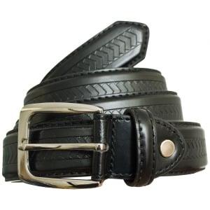 Carabou Big Mens 5028 Leather Belt Black