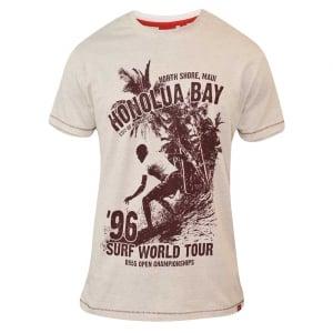 D555 by Duke Kingsize Clayton T-Shirt White Marl