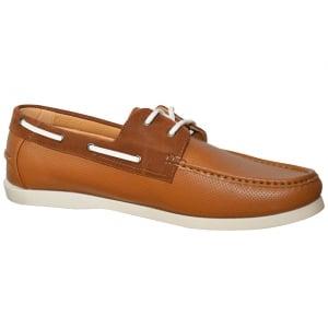 D555 by Duke Kingsize Cade Boat Shoes Tan