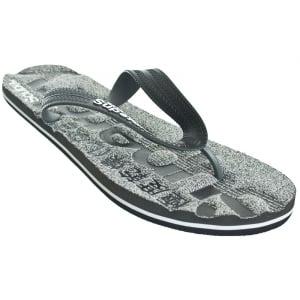 Superdry Scuba Marl Flip Flops Charcoal/Black Grit