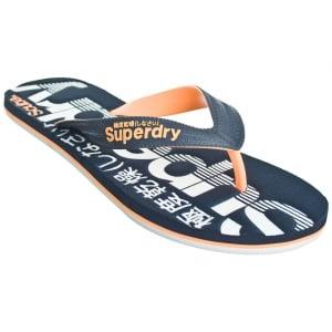 Superdry Scuba Flip Flops Navy/Orange