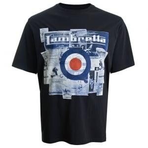 Lambretta Kingsize Map Logo T-Shirt Navy