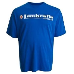 Lambretta Kingsize Flag Logo T-Shirt Royal
