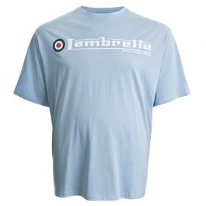 Lambretta Kingsize Flag Logo T-Shirt Sky