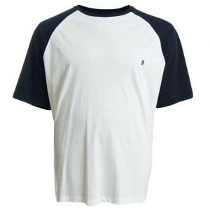 French Connection Kingsize 56HYY Raglan T-Shirt White