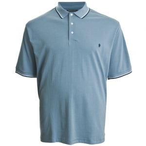 French Connection Kingsize 56HMZ Twin Tipped Polo Sky