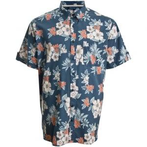 Espionage Kingsize SH235 Hawaiian S/S Shirt Deep Blue