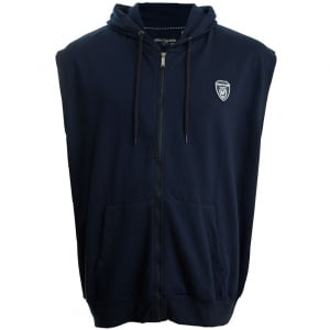 Loyalty & Faith Kingsize Colin Sleeveless Zip Hoodie Navy