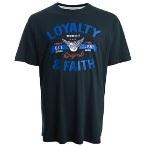 Loyalty & Faith Kingsize Japan T-Shirt Navy