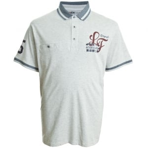 Loyalty & Faith Kingsize Bilbo Polo Ash Grey Marl