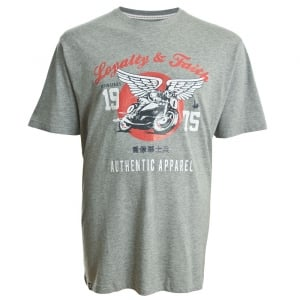 Loyalty & Faith Kingsize Mailto T-Shirt Grey Marl