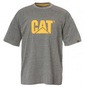 Caterpillar Kingsize Trademark Logo T-Shirt Dark Heather Grey