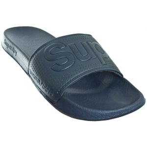 Superdry Pool Slide Navy/Lime Perf