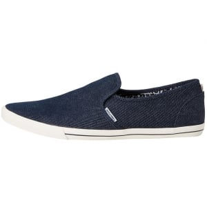 Jack and Jones Snake Canvas Loafers Denim