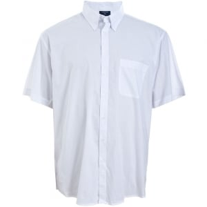 Espionage Kingsize SH147 Plain Collar S/S Shirt White