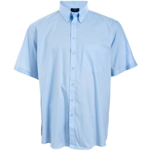 Espionage Kingsize SH147 Plain Collar S/S Shirt Blue