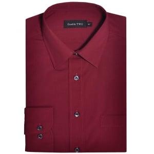 Double Two Kingsize SLX3300 Classic Long Sleeve Shirt Burgundy