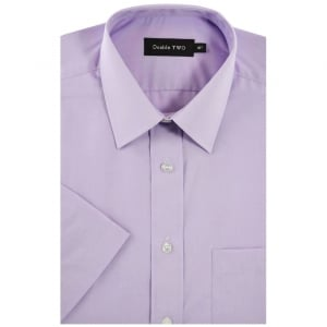 Double Two Kingsize SHX3300 Classic Short Sleeve Shirt Lilac
