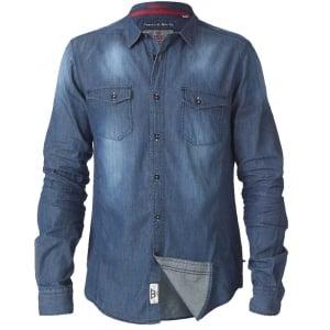D555 Kingsize Tobias L/S Denim Shirt Vintage