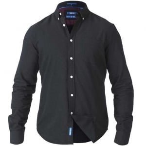 D555 Kingsize Alastair L/S Oxford Shirt Black