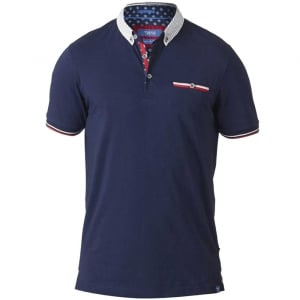 D555 Kingsize Garfield Stretch Polo Navy