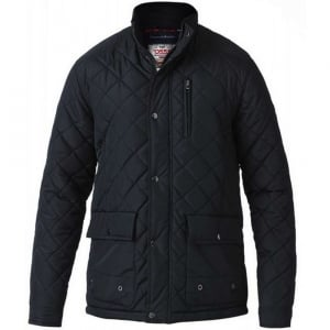 D555 Kingsize Pollard Quilted Jacket Black