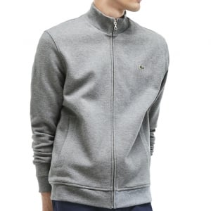 Lacoste Kingsize SH6948 Zip Sweatshirt Grey