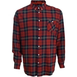 D555 Kingsize Richard L/S Shirt Red/Navy