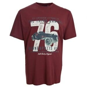 Espionage Kingsize Auto T-Shirt Wine
