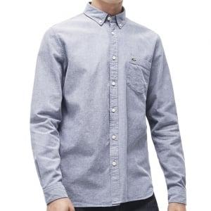 Lacoste Kingsize CH9598 Oxford L/S Shirt Navy/White