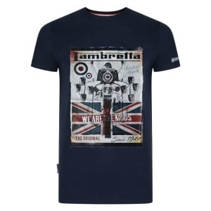 "Lambretta We Are The Mods Since 47 T-Shirt Navy (46-50"")"