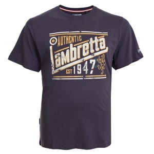 "Lambretta Authentic T-Shirt Dark Purple (46-50"")"