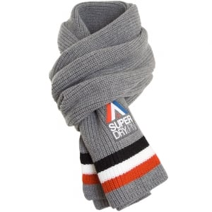 Superdry Racer Scarf Grey