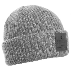 Superdry Surplus Goods Downtown Beanie Silver Twist