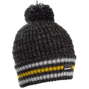 Superdry Tignes Bobble Beanie Charcoal/Black Twist
