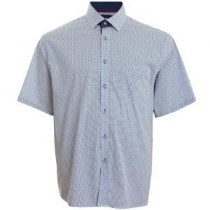 Cavani Kingsize CV13 Pattern S/S Shirt Blue