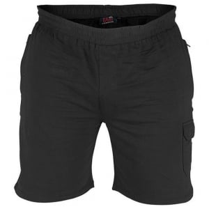 D555 Kingsize John Fleece Cargo Shorts Black