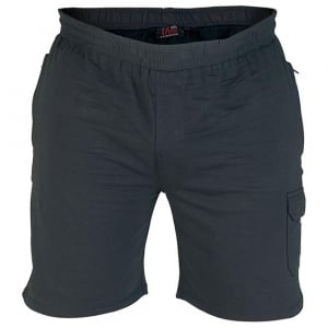 D555 Kingsize John Fleece Cargo Shorts Navy
