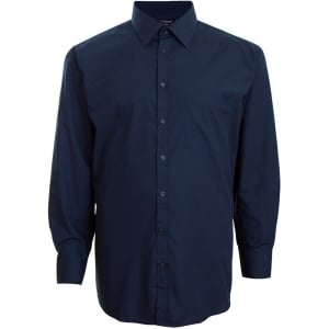 Espionage Kingsize SH151 Plain Collar L/S Shirt Navy