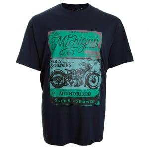 Espionage Kingsize Michigan T-Shirt Navy