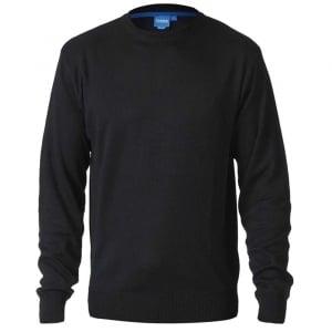 D555 Kingsize Medwin Crew Knitwear Black