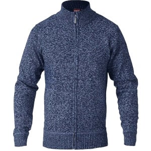 D555 Kingsize Harmison Zip Cardigan Blue