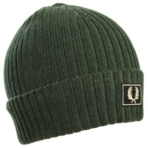 Fred Perry C2100 2 Tone Cotton Beanie Hunting Green