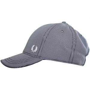 Fred Perry HW3632 Mini Gingham Check Cap Navy