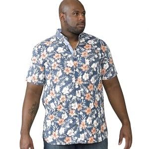 D555 Kingsize Huxley S/S Shirt Navy